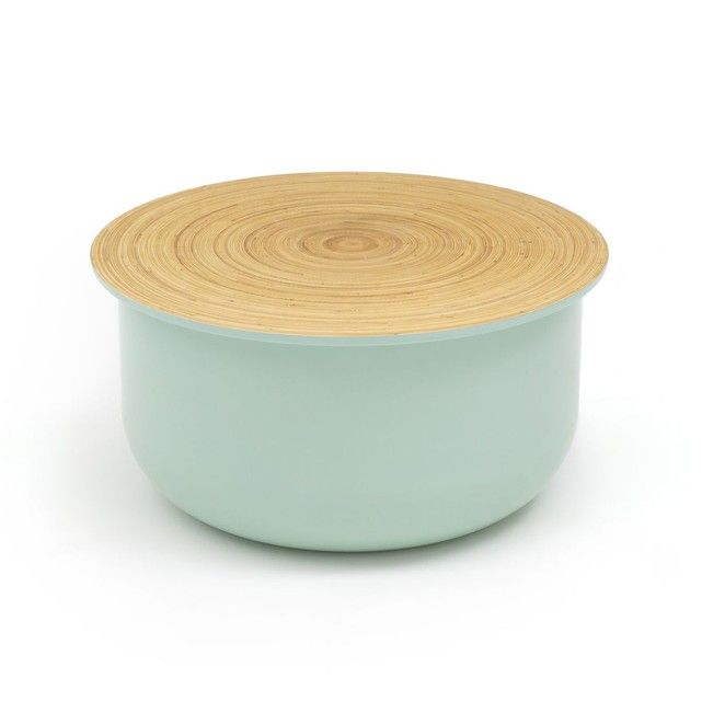Table Basse Coffre Bamboo Avec Plateau Amovible Vert D Eau La Redoute Tables Basses Coffres La Redoute Table Table Basse Verre