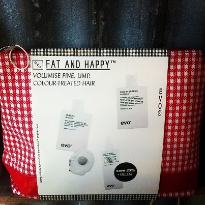 """Thin, Lack-Lustre, Colour-Treated Hair holding you back? Get """"Fat & Happy"""" with this brilliant pack from EVO £29.95. Gluttony is back and it's smoother than ever...."""