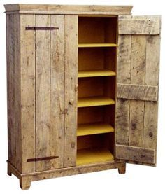 Jelly Cabinet Made From Pallets ---- #pallets