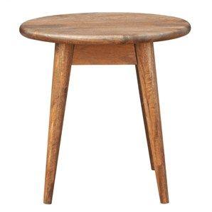 Stuart Solid Mango Wood Timber Round Side Table