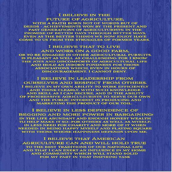 Ffa Creed Backdrop Banner For Fair Booth Show Barn