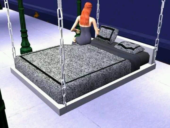 Hanging bed hanging beds pinterest for Hanging mattress