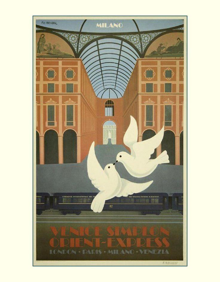 """11 X 14""""  canvas art print~    London, Paris, Milano, Venezia - Venice Simplon, Orient Express by justartrageous3 on Etsy"""