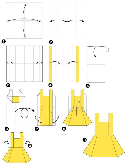 tuto pliage origami robe