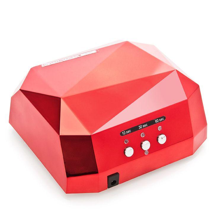GNK-S2 LED Nail Dryer Electric  LED UV Lamp Nail Lamp Curing Gel Nails Polish Nail Art Tools 36W Red Diamond Shaped