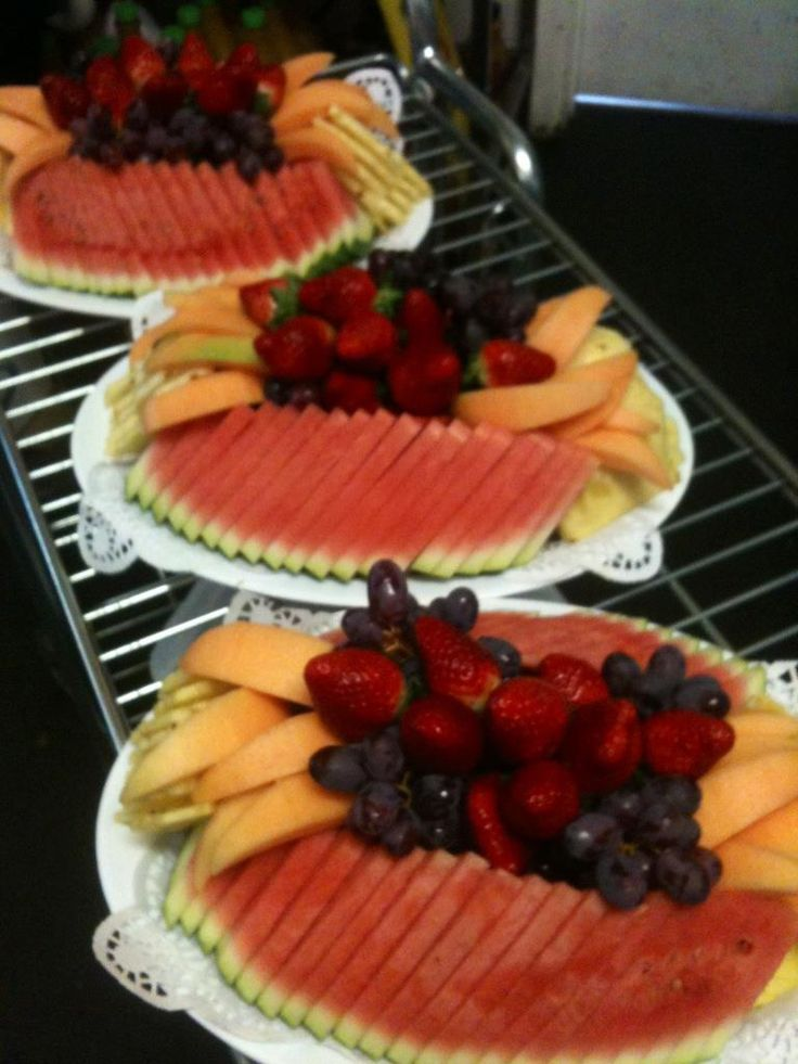 Everything's better in three's! Fresh fruit platters at Essendon Fruit Supply