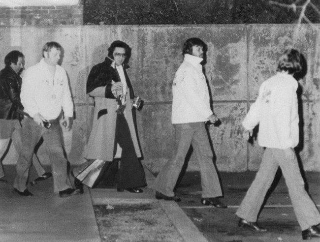 Elvis - with the Memphis Mafia.. Joe and Red on the left side.