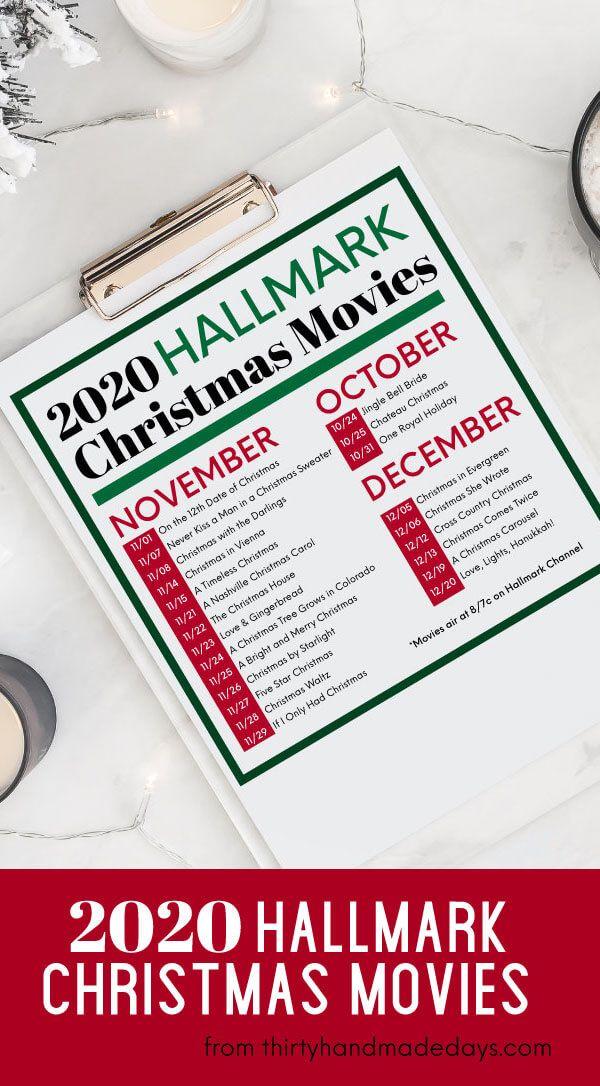2020 Hallmark Christmas Movies Schedule In 2020 Hallmark Christmas Movies Christmas Movies Hallmark Christmas