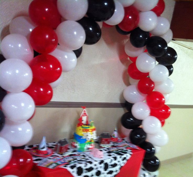 Spiral four colored balloon arch 36 best
