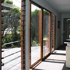 stacker door with louvre window - Google Search