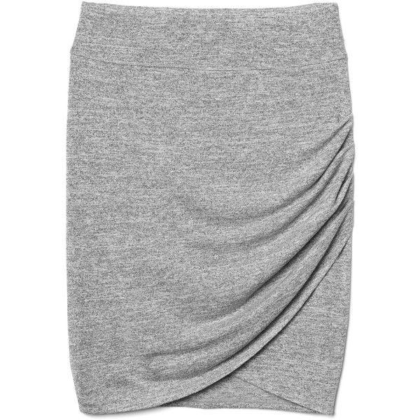 Gap Women Softspun Knit Tulip Skirt ($30) ❤ liked on Polyvore featuring skirts, gap skirts, shirred skirts, tulip skirt, slimming skirts and gathered skirt