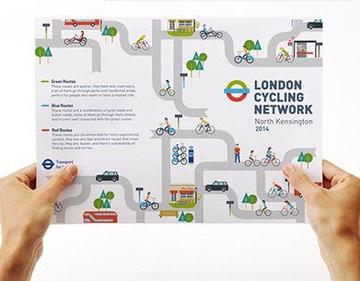 """다음 @Behance 프로젝트 확인: """"London Cycling Network - Transport for London"""" https://www.behance.net/gallery/17978381/London-Cycling-Network-Transport-for-London"""