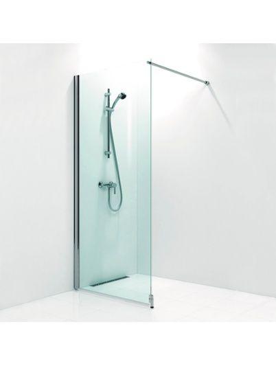 Duschvägg Svedbergs Fasett Matt Aluminium/Klarglas, Perfekt till mitt badrum som är litet.