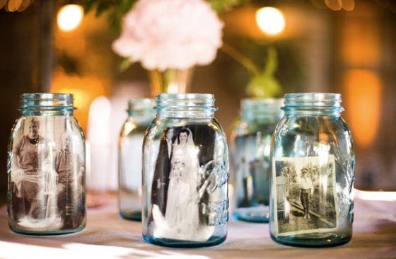 Fotos lockern die Tischdeko auf – und die Gäste | Fräulein K. Sagt Ja