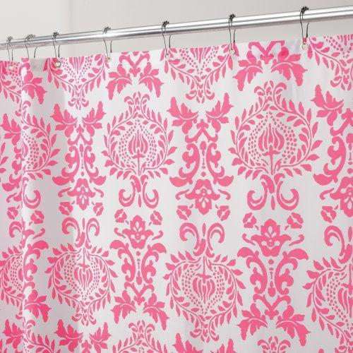 Interdesign 40420EU  Damask Duschvorhang 183 x 183 cm, Rosa