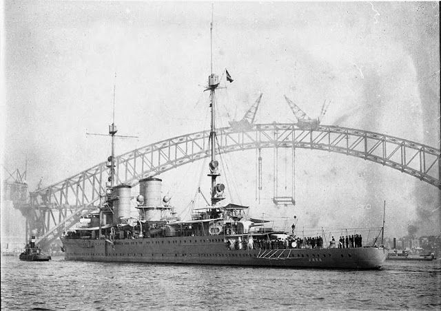 Dutch light cruiser Java in Sydney; date uncertain. She was to be sunk by the Japanese during their conclusive defeat of ABDA (American, British, Dutch, Australian) naval forces around the Island after which she was named in February 1942.