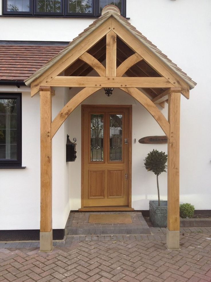 BESPOKE GREEN OAK PORCH FRONT DOOR CANOPY HANDMADE IN SHROPSHIRE \