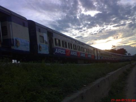 Jana Shatabdi Express from Dimapur, Nagaland to Guwahati, Assam, passing through