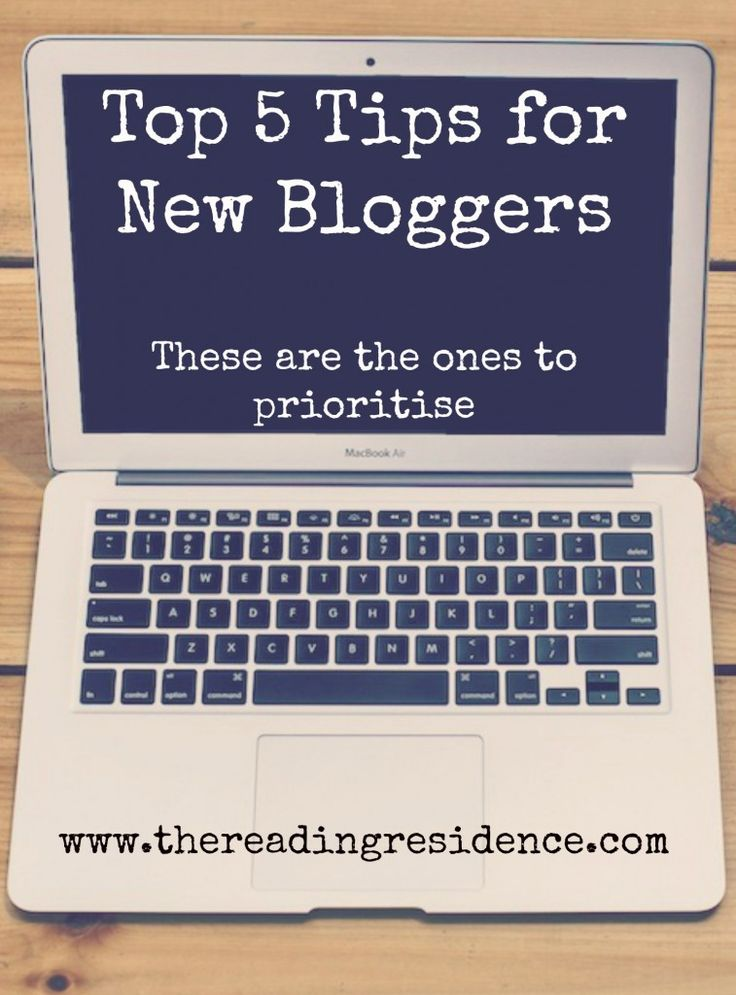 Top 5 tips for new bloggers. There are loads of things you can do, but these are key so start here and build up.