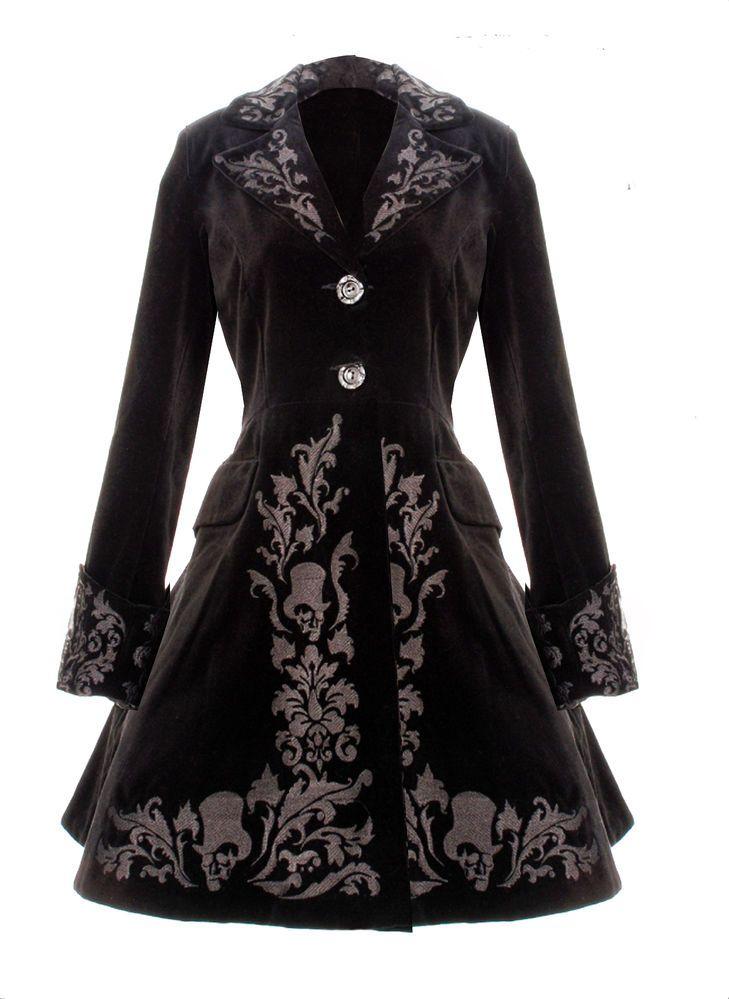 Spin Doctor Gothic Steampunk Victorian Black Velvet Coat Gothic Vintage 2014 New #SPINDOCTOR #GothicSteampunkVictoriana
