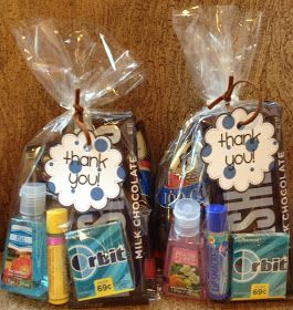 Nurse Goody Bags - service project possibility - or decorate a basket and fill it with little goodies for nurses