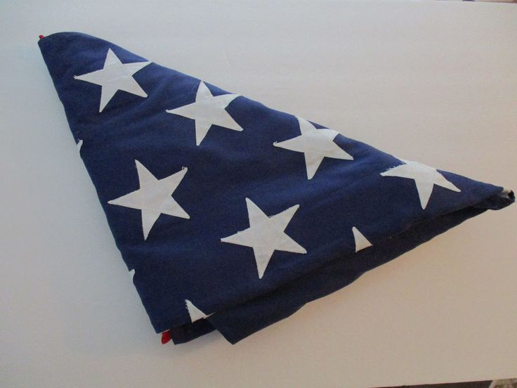 Ceremonial Soldiers Folded American Flag USA Red White Blue Tri Valley Forge CA