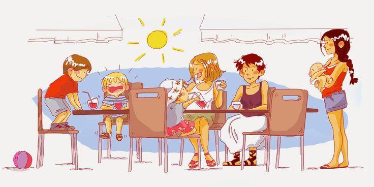Un midi entre copines...et enfants :)