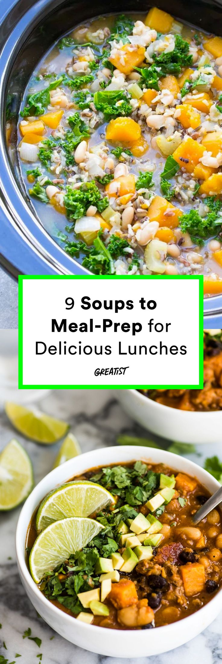 Sweater weather calls for soup and lots of leftove…