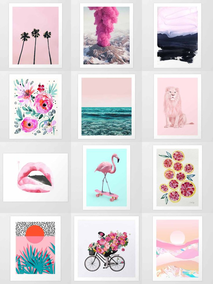 Society6 Pink Art Prints - Society6 is home to hundreds of thousands of artists from around the globe, uploading and selling their original works as 30+ premium consumer goods from Art Prints to Throw Blankets. They create, we produce and fulfill, and every purchase pays an artist.