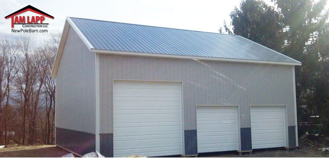 36 W X 40 L X 16 H Commercial Polebarn Building In
