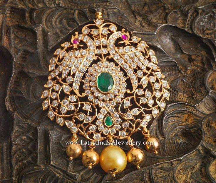 https://www.bkgjewelry.com/sapphire-ring/328-18k-yellow-gold-diamond-blue-sapphire-solitaire-ring.html Designer Peacock Diamond Pendant