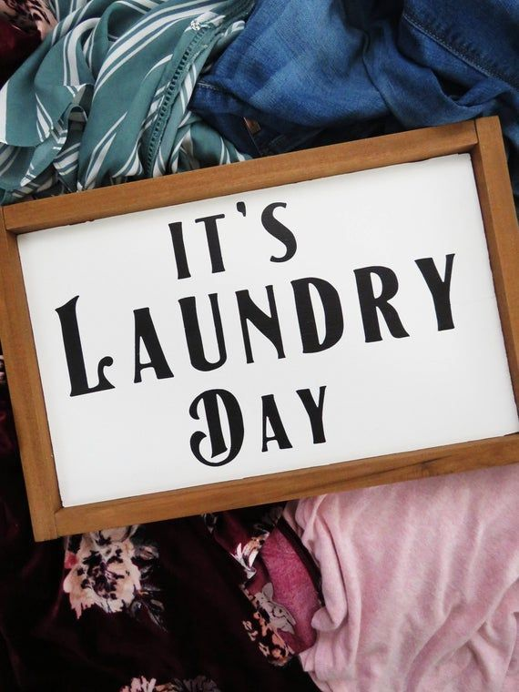It's Laundry Day • Farmhouse Laundry Room Art • Cute ...