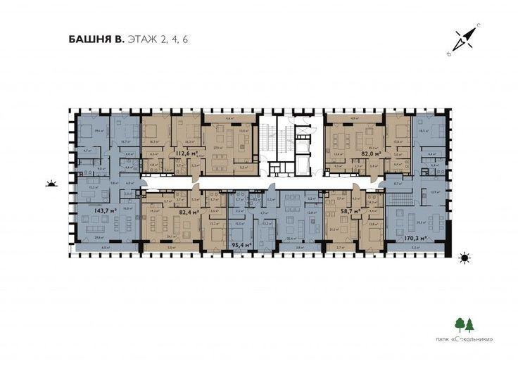 Жилой комплекс «Egodom» Башня Б. План