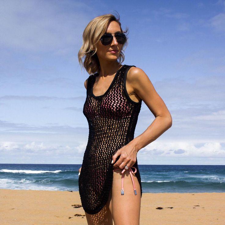 Beach style, Black beach wear, Black Aviators, summer style @thelustlife_