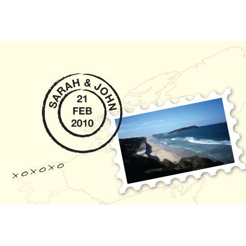 Postcard with Stamp Favor Card (Set of 12)