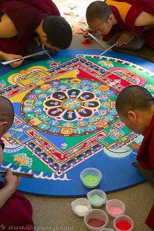 Tibetan Sand Painting ~ When completed it will be destroyed. A lesson in impermanence.