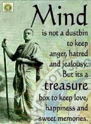 The mind is a treasure box                                                                                                                                                                                 More