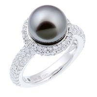 Ingrid Hegnar Perlering - Diamantring med Tahitiperle  Diamanter og perle i skjønn harmoni
