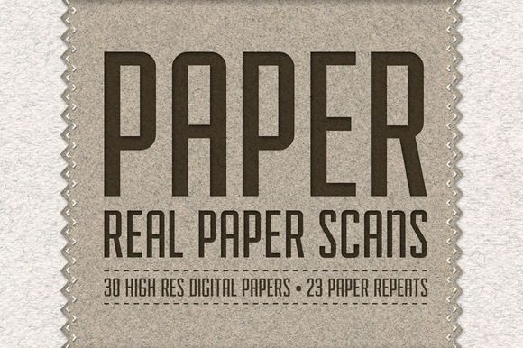 I just released Paper Pack: 30 Real Paper Scans on Creative Market.
