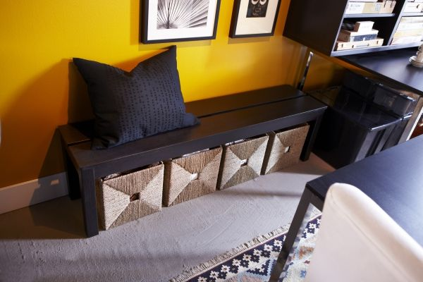 Dining storage that works! Under the seat storage can make the most of the floor space too.