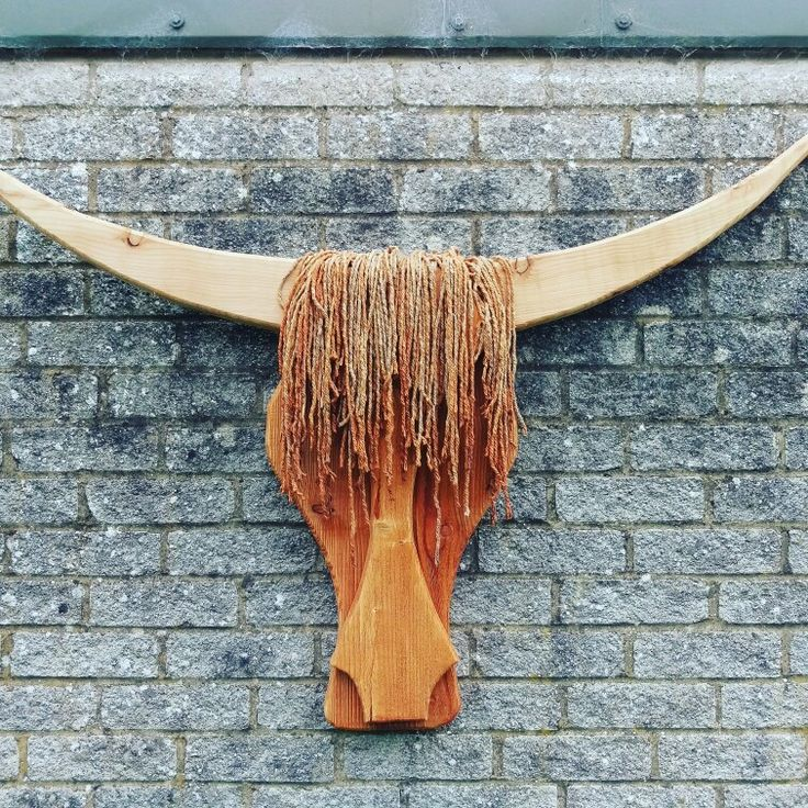 DIY Woodworking Ideas Wooden Highland cow head made by myself