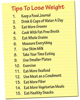 15 tips for losing weight: 1. Keep a food journal. 2. Drink more water. 3. Eat more greens. . . . #Fitness Matters