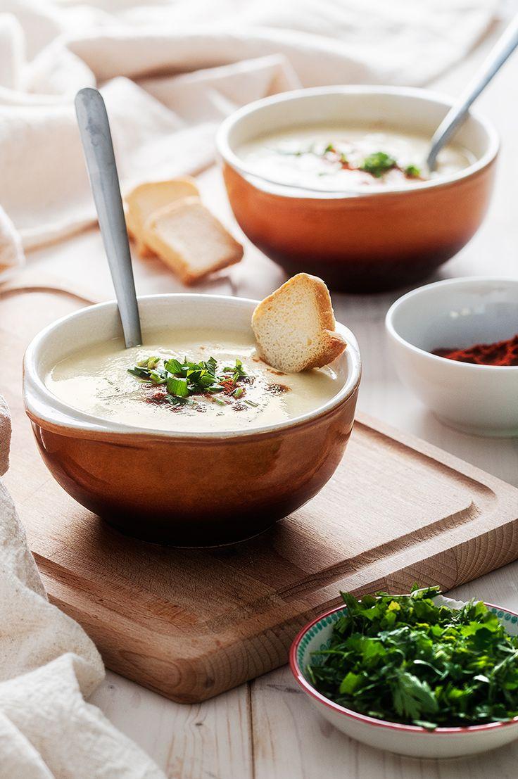 Supa crema de conopida cu cheddar
