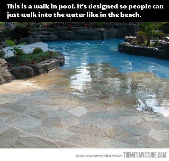If I were to have a pool, this would be how I would do it.