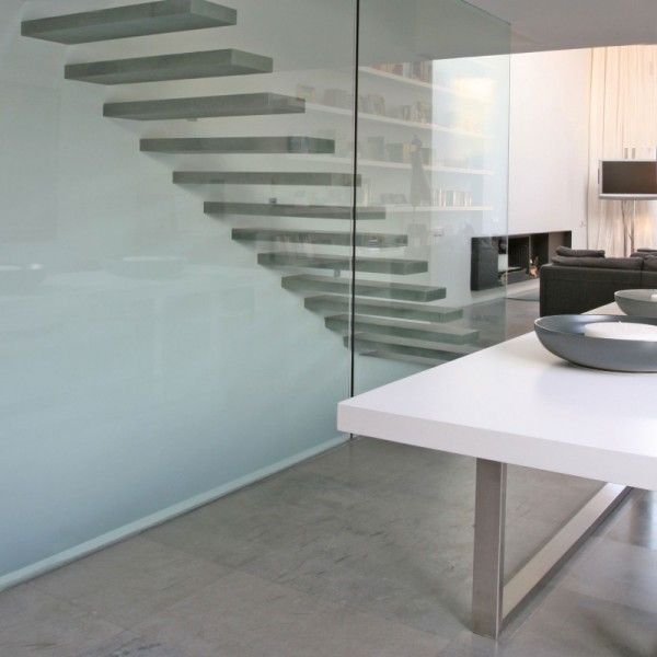 Modern Stairs Interior from Contemporary Family House Design with Geometry Concept in Valencia Spain 600x600 Contemporary Family House Design with Geometry Concept in Valencia, Spain