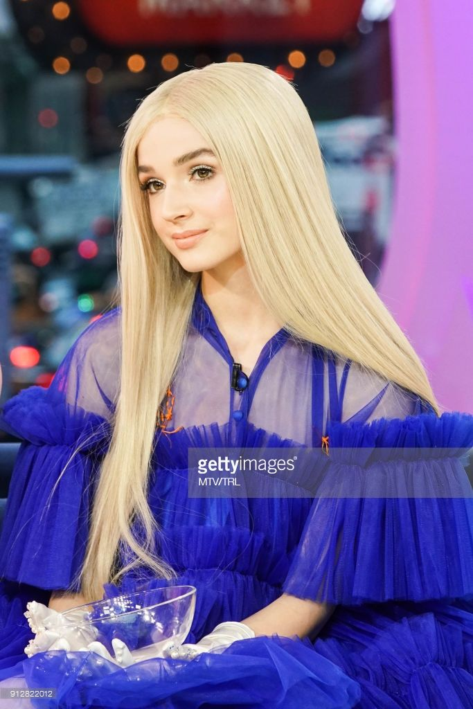 Poppy attends MTV TRL at MTV Studios on January 29, 2018 in New York City.