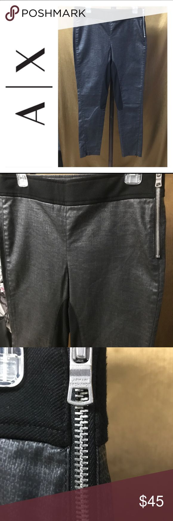 🎉❤️ New Armani Exchange Leggings ❤️🎉 ❤️Selling a sexy leather rocker AX Legging ❤️ Its size 10.. a fitted size 10 ❤️ Color Dark Grey ❤️This legging looks so Nice ❤️ Makes your behind look bigger 👀 ❤️ So this legging is worth every Cent ❤️ A/X Armani Exchange Pants Leggings