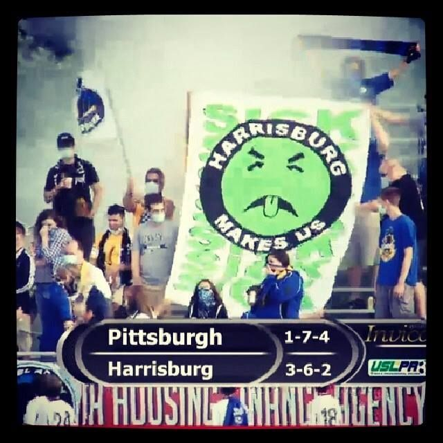 Steel Army (Pittsburgh Riverhounds) USLPRO (D3) away at Harrisburg
