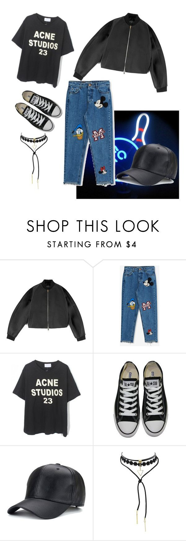 """Bowling look"" by paulagerfeld ❤ liked on Polyvore featuring Giambattista Valli, Pull&Bear, Converse, StreetStyle, outfit, ootd and women"