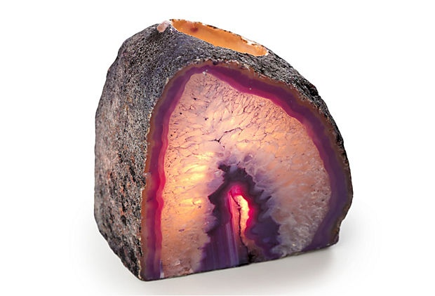 Stone Candleholder, Purple on OneKingsLane.com